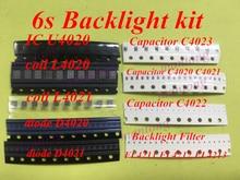 5 комплектов (85 шт.) для iphone 6s, подсветка ic U4020 + катушка L4020 L4021 + диод D4020 D4021 + конденсатор C4023 C4022 C4021 + фильтр FL4211  4213