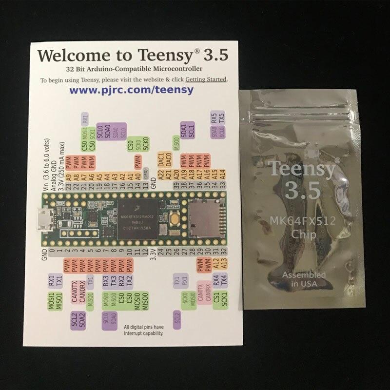 1 pcs x DEV 14055 ARM Teensy 3 5 Development Board WITH Microcontroller Chip MK64FX512VMD12