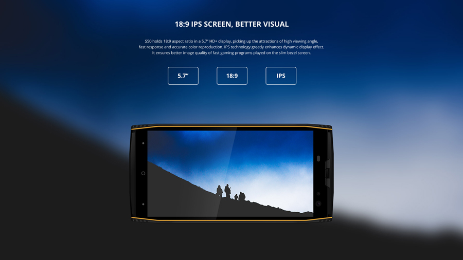 DOOGEE S50 IP68 Rugged Waterproof Smartphone 6GB 128GB MTK6763 Octa Core Android 7.1 5180mAh 4 Cameras 5.7'' 18:9 Mobile phone