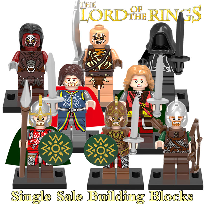 Building Blocks Figures The Lord of the Rings Hobbit Urok Hais Wraith Mordor Orc Aragorn Super Heroes Kids DIY Toys Hobbies behringer behringer ufo202