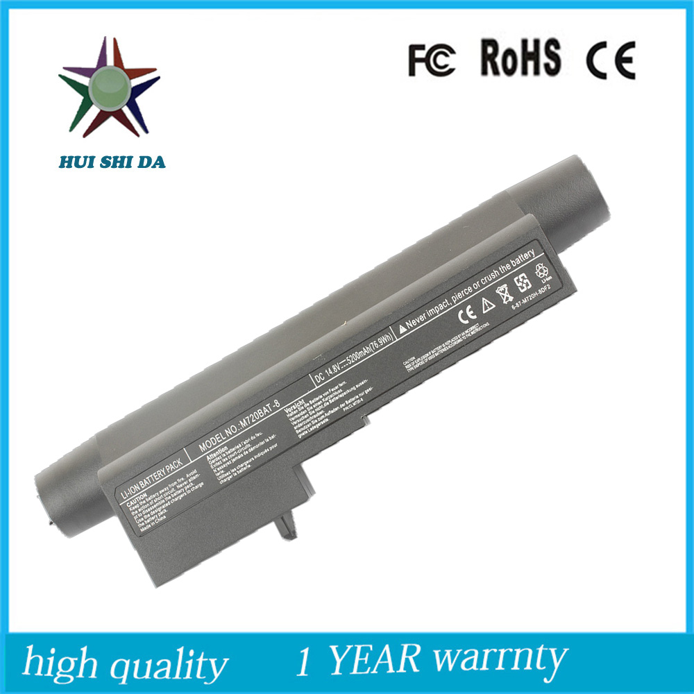 8Cell <font><b>14.8v</b></font> <font><b>5200mah</b></font> External High Quality New Laptop Battery for HAIRE M720BAT A20 M730 image