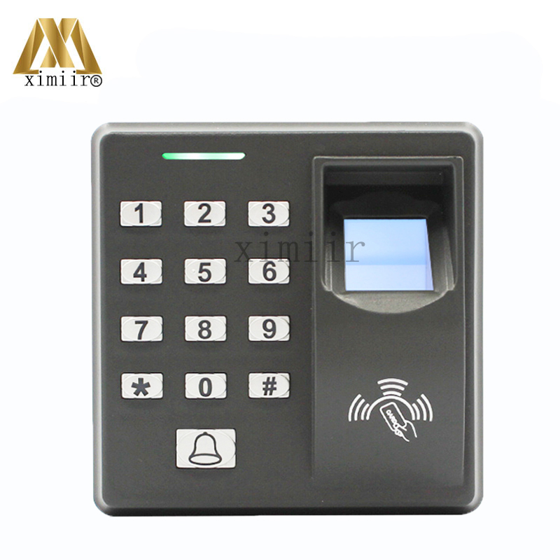 Fingerprint Access Controller Standalone Fingerprint Door Access Control System With RFID Card Reader Metal Fingerprint Reader weigand reader door access control without software 125khz rfid card metal access control reader with 180 280kg magnetic lock
