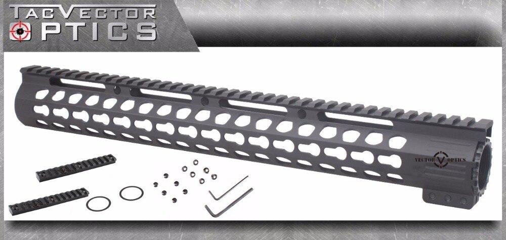 Vector Optics Ultra Slim KeyMod 15 Inch Free Float Handguard Rail Mount with Steel Barrel Nut
