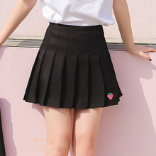 M skirt 2019 spring and summer new womens pleated Korean version of the college high waist short