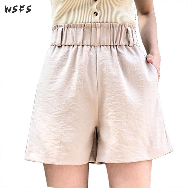 Summer Hot Ladies Shorts Women Shorts Casual Ladies Wide Leg Short Trousers  Black Blue Pink Loose Womens High Waist Trouser|Shorts| - AliExpress