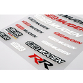 Newest Car Styling Mugen The Whole Body Sticker Handle Decal Window Decoration for Civic Accord Crv Fit City Jazz