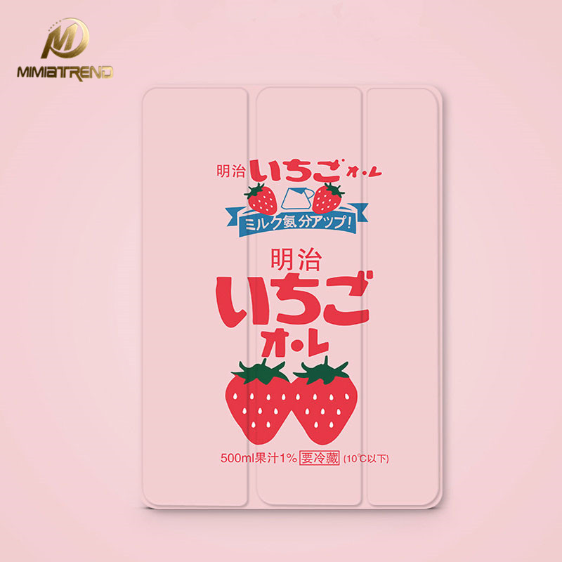 Mimiatrend For New iPad 9.7 2017 Watermelon Girl Love Flip Cover For iPad Pro 9.7 Air Air2 Mini 1 2 3 4 Tablet Case Protective blue butterfly flower mini4 mini2 mini3 flip cover for ipad pro 9 7 air air2 mini 1 2 3 4 tablet case protective shell
