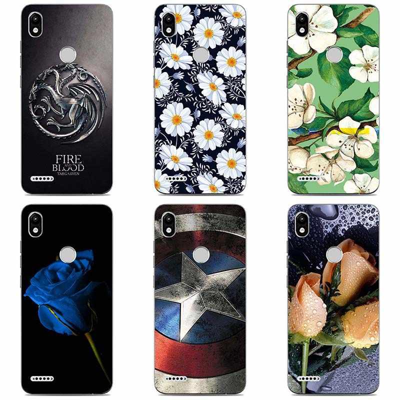 Мягкие силиконовые чехлы для телефонов Infinix Smart 2X5515 мягкий ТПУ материал задняя крышка Coque принт живопись цветок стиль