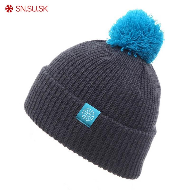 SN.SU.SK 2019 gorros Snowboard Winter skating SKULLIES CAPS Hats Beanies head warm for men woman Knitted Ski hats