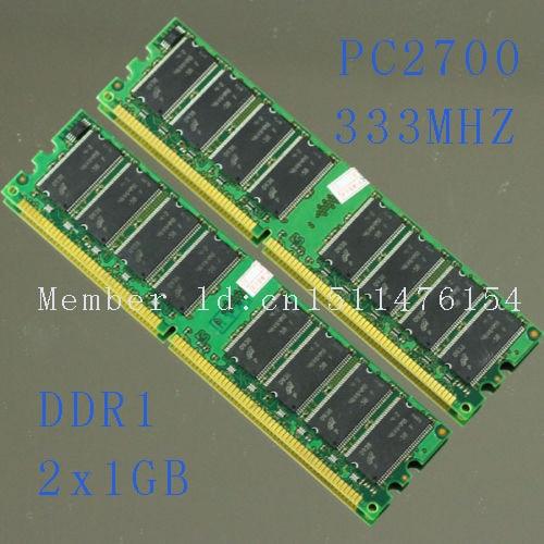 Desktop i ri DDR1 2X1GB PC2700 333MHZ DIMM pc2700 memorie RAM DDR - Komponentët kompjuterikë