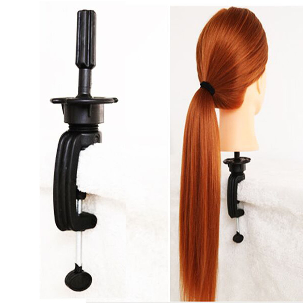 26'' Salon Cosmetology Hair Hairdressing Training Head With Thick Hair Wig Mannequin Heads +Free GIFT
