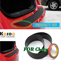 KOSOO Para Chery Tiggo Riich G5 M1 QQ6 A1 QQ A516 A520 QQME Rear Bumper Guard Proteja Tampa do Peitoril Da Guarnição de Borracha pad tapete do carro styling