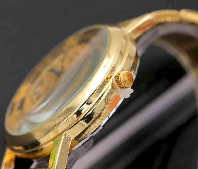 Gold/Silver Watch Hollow Full Steel Women Men Unisex Retro Relojes Hombre Quartz Wrist watch Fashion Luxury Clock Drop Shipping