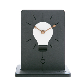 Personality bulb shape desktop small table clock Good idea office brief decorative clock