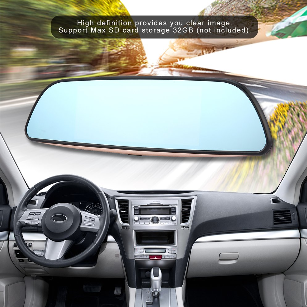 7 Full HD 1080P Intelligent Car DVR Rearview Mirror Dash Camera Dual Lens 3G WIFI GPS For Android 5.07 Full HD 1080P Intelligent Car DVR Rearview Mirror Dash Camera Dual Lens 3G WIFI GPS For Android 5.0