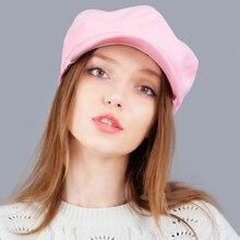 Suede Women Newsboy Caps Fashion Artist Painter Octagonal Cap Autumn Winter Warm Newsboy Beret Hat Solid Lovely Causal Casquette