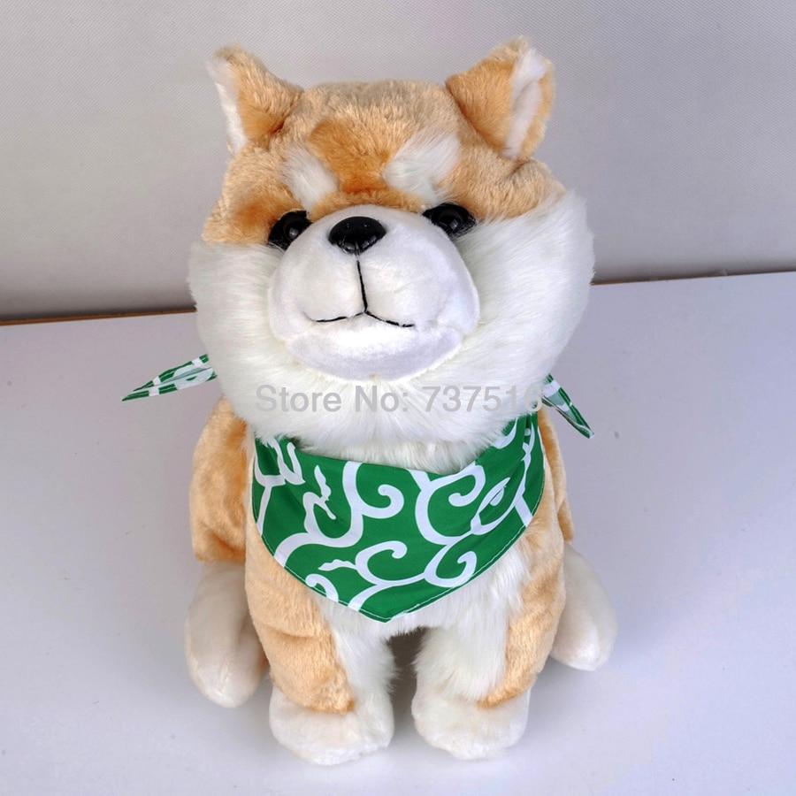 Nouveau Anime kawaii japon Shiba Inu Animal en peluche assis Shiba chien avec foulard 13