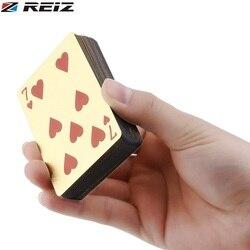 Eiz Poker Card PET/PVC водонепроницаемые пластиковые роскошные покрытые фольгой игральные карты Вечерние игры сетка/евро односторонняя цветная вер...