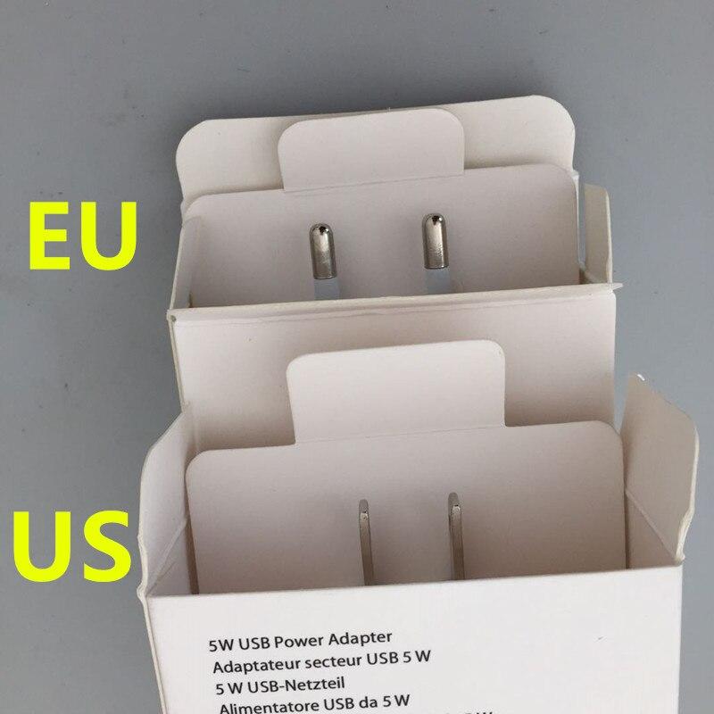100pcs AAAA Quality with box 5V 1A A1400 A1385 EU US Plug USB Wall Charger AC