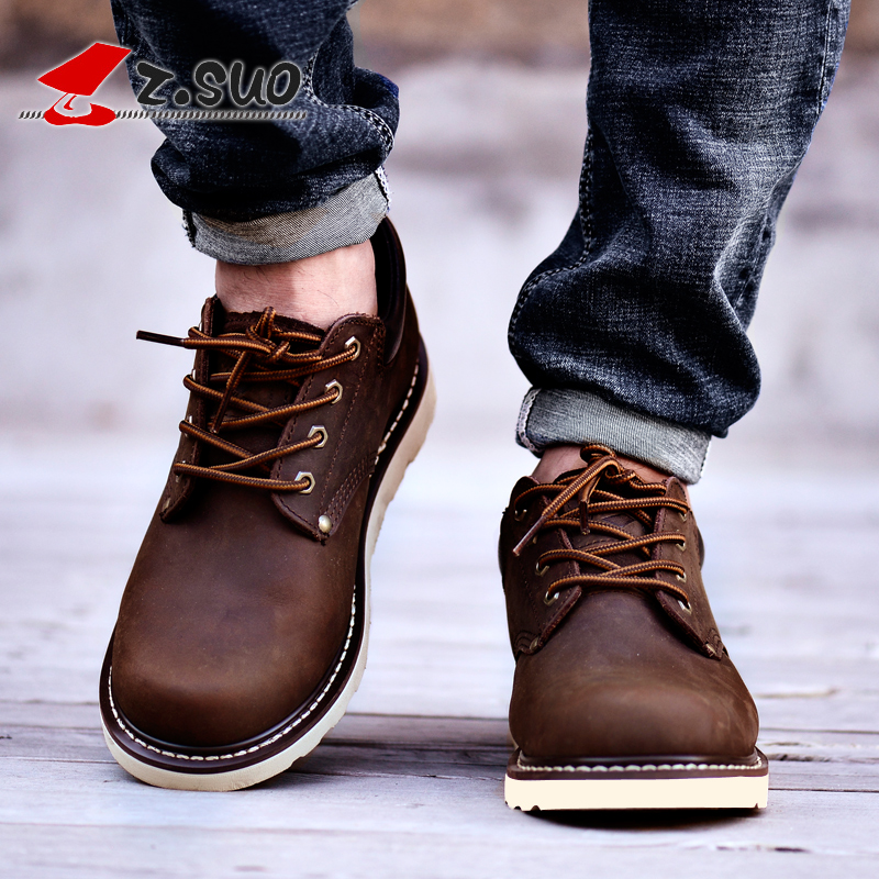 2016 Zsuo ZSGTY16006 men s popluar tooling autumn and winter shoes loggerhead outdoor casual leather trend