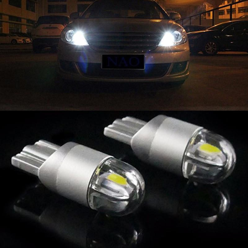 2pcs T10 168 194 W5W LED Car License Plate Turn Fog Interior Reading Light Bulb
