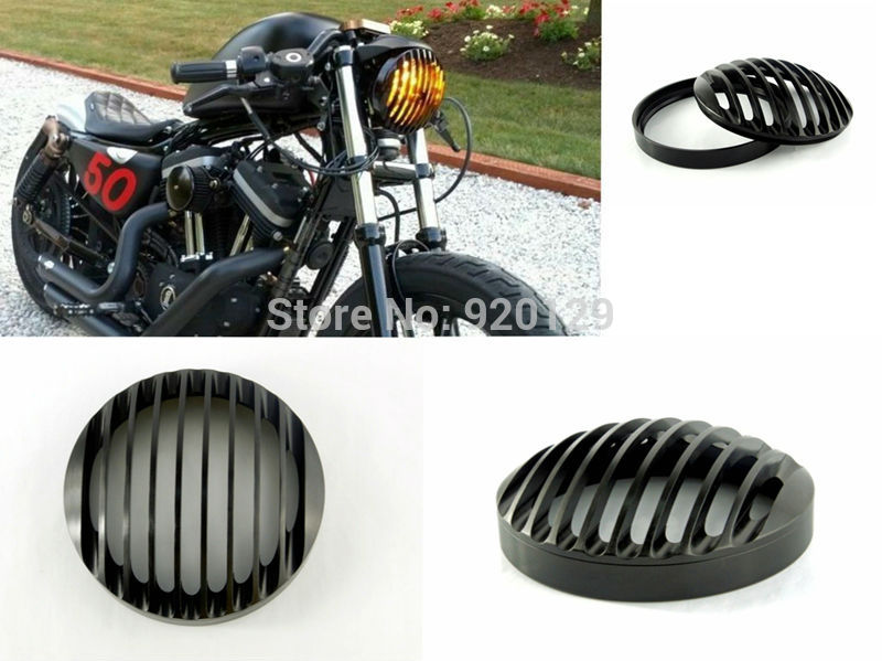 Motorcycle CNC Aluminum Headlight Grill Cover for Harley Sportster XL883 XL1200 2004-2014 super quality 5 3 4 aluminum cnc light cover headlight grill cover for harley sportster xl883 1200 04 up softail