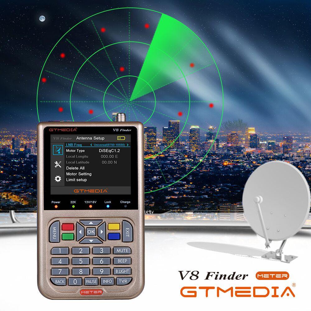GTMEDIA V8 Finder METER DVB-S2/S2X спутниковый Finder Россия Satelite Finder Meter Full 1080P FTA SatFinder для спутникового приемника