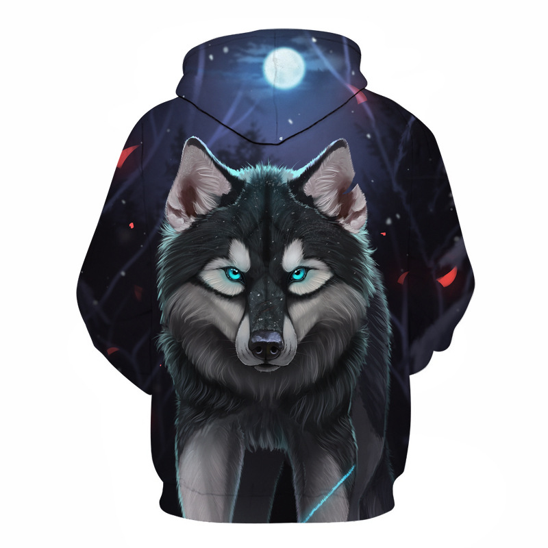 Wolf Printed Hoodies Men 3D Hoodies Brand Sweatshirts Boy Jackets Quality Pullover Fashion Tracksuits Animal Street wear Out Coat 55