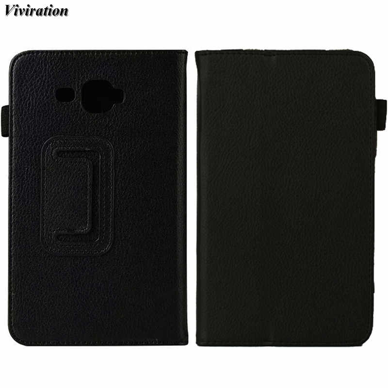 "Viviration Effen Zwart Luxe Tablet Cover Voor Samsung Galaxy Tab J Max T285 T280 SM-T285 SM-T280 T280N 7 ""Tablet PC Flip Case"