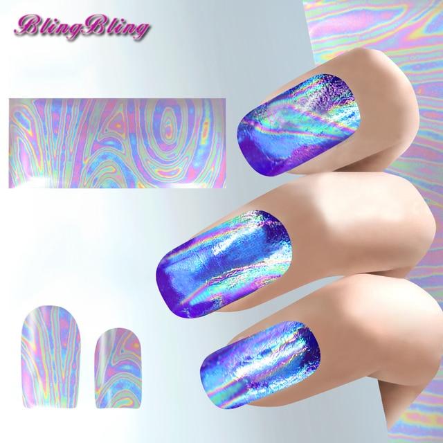 3pcs Holographic Nail Sticker Iridescent Nail Art Foil Rainbow ...