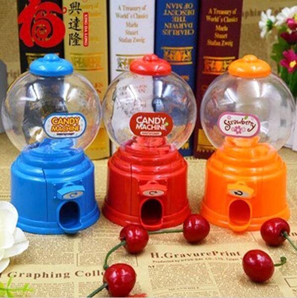 China post mail Cute Children Mini candy machine Multi-color Moneybox Baby Piggy bank Twist Sweet zakka Novelty Christmas gift