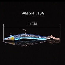 1PCS 11cm 10g lead jig Head Single Hook Soft Fishing Lure Wobbler Bait Sinking Jigging Sea Fishing Peche Pesca Fishing Tackle