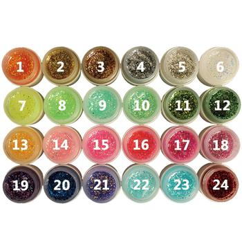 8ml Glitter Powder Glue Nail Polish Soak Off UV Lamp Gel Long-lasting Art Decoration Salon Tool 24 Colors Fast Delivery