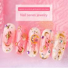 LEAMX 2018 New Charm Nail Art Decorations Golden Moon Stars Triangle Mixing Package INS Tender Style 3D Nali Accessories Jewelry