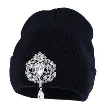 Новые модные женские шапочки, зимняя шапка, шикарная Цветочная Роскошная шапочка для девочки, повседневные облегающие шапки,, женские зимние шапки