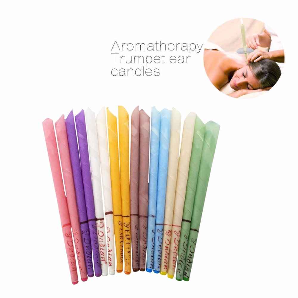 10Pcs/Set Indian Natural Aromatherapy Ear Candle Ear