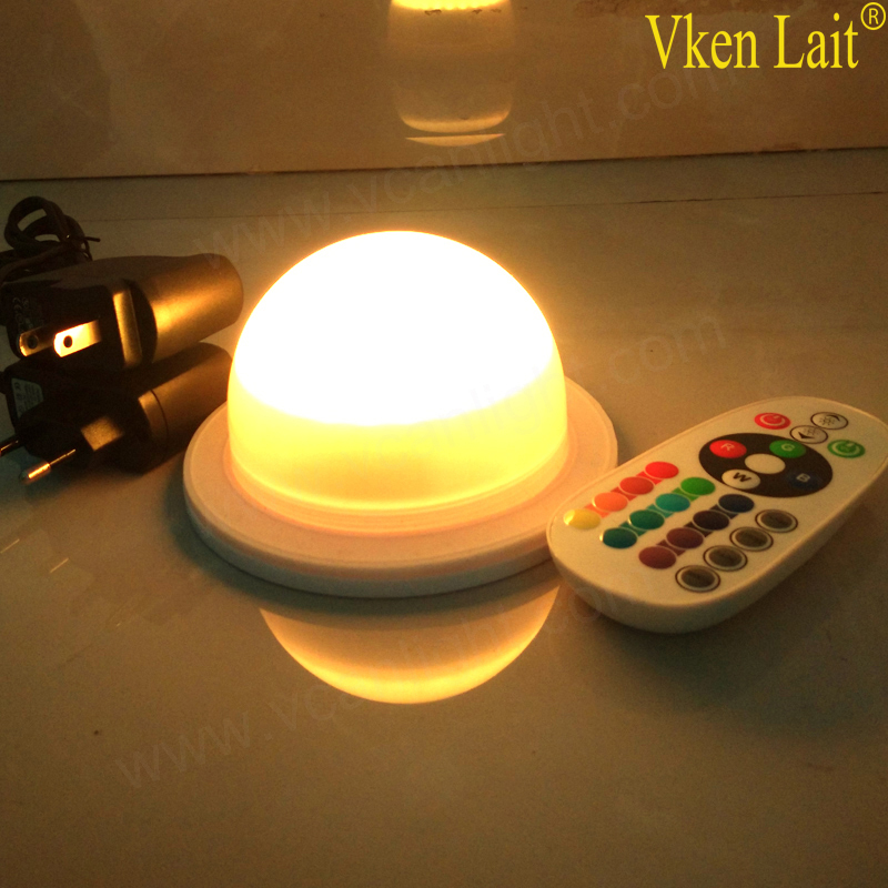 ФОТО NEW DHL 48LEDS Free Shipping RGB lithium battery powered led light source for under table light