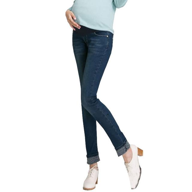 Calças de Brim de maternidade Para A Gravidez Roupas Jeans Calças Para As Gestantes Roupas Da Moda 2017 Maternidade Vetement Maternite