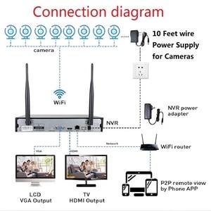 Image 5 - 2MP 1080P CCTV System 8ch HD Wireless NVR kit 3TB HDD Outdoor IR Night Vision IP Wifi Camera Security System Surveillance Hiseeu