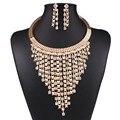 Moda feminina Cor de Ouro Cheias Conjuntos de Jóias de Cristal Austríaco Conjuntos de Jóias de Casamento Pingente N3589