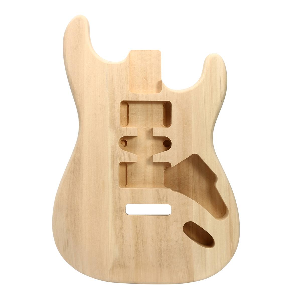 Unfinished Basswood Electric Guitar Body DIY Music Instrument Guitar Body Replacement Parts For Strings Guitars Accessories