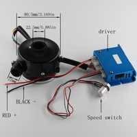 9250 DC 12 V/24 V/48 V Kreisel Fan, bürstenlosen gebläse mit saug-port bis zu 9.5Kpa, air kissen maschine, Medizinische husten maschine