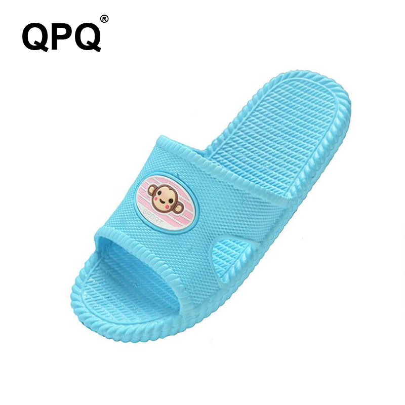 Summer Slippers Fashion Women Slippers indoor Men Slippers Non-slip Home Cartoon Flat Sliders shower Shoes <font><b>ST203</b></font> image