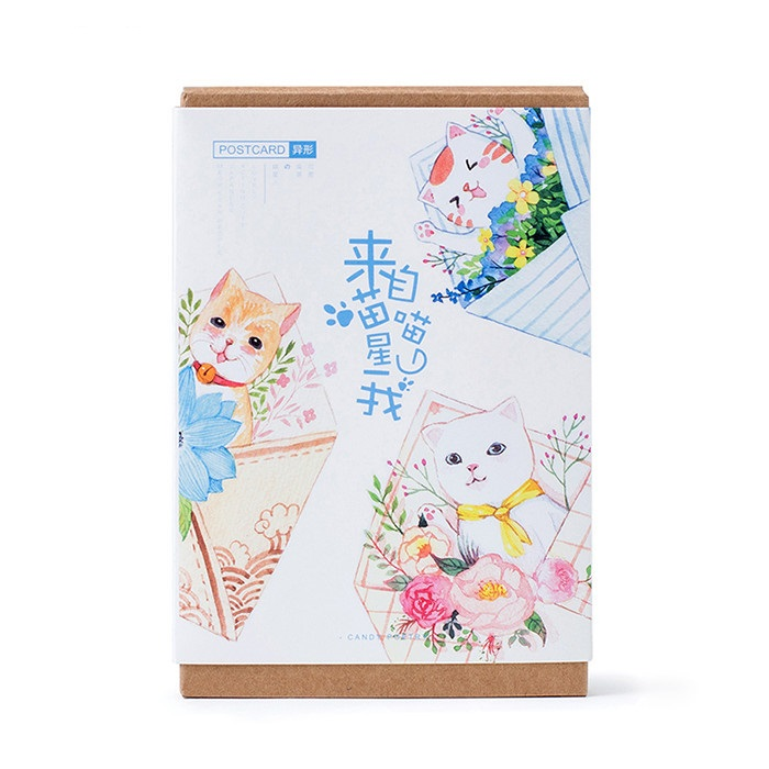 30sheets/LOT Cute Meow Planet Postcard /Greeting Card/Wish Card/Christmas And New Year Gifts