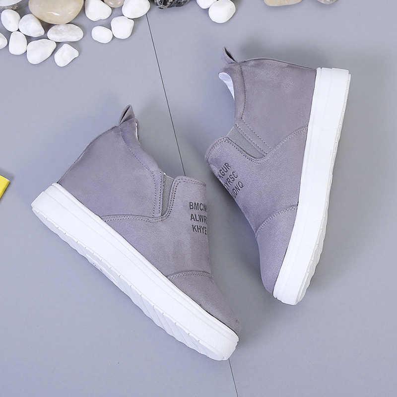 AARDIMI PLUS ขนาด 35-43 ผู้หญิงแพลตฟอร์มรองเท้าสบายๆ Loafers Wedges รองเท้ารองเท้าผ้าใบผู้หญิง Creepers SLIP ON รองเท้าแบน
