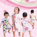 Детские Линь Тай Одежда Девочка Летом Новорожденных Га. мужчина 0 Года 3 Месяц Пижамы С Коротким Рукавом Обычная Восхождение
