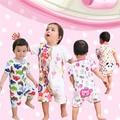 Baby Lin Tai Clothes Girl Baby Summer Newborn Ha. Male 0 Year 3 Month Pajamas Short Sleeve Plain Climbing