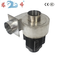370w small industrial 100mm diameter pipe etchant gas extract fan blower high temperature resistant 304 stainless steel