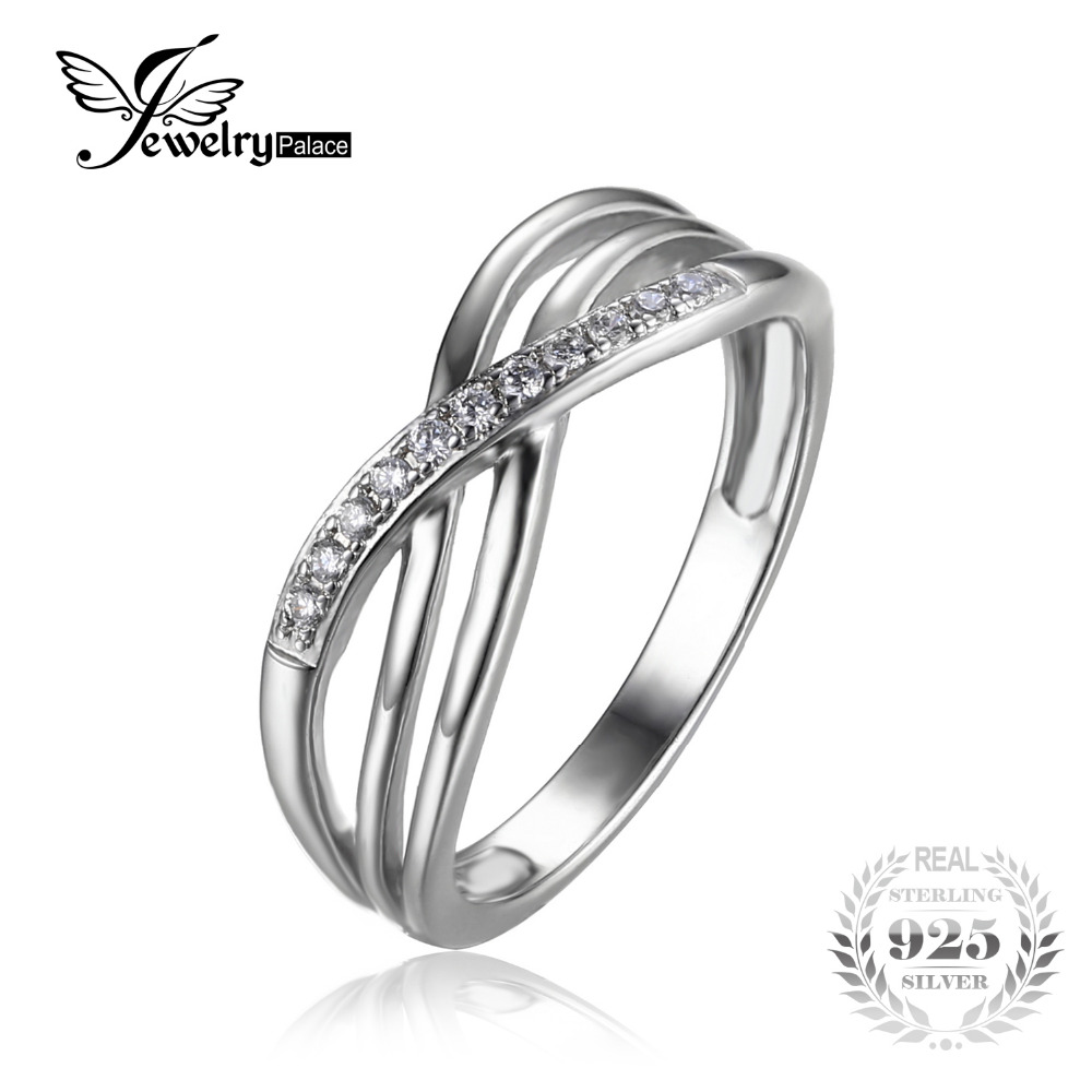 bargain deals wedding rings sale promotion wedding rings for sale JewelryPalace Infinity Knot Cubic Zirconia Anniversary Promise Wedding Band Ring Sterling Silver Women Jewelry On Sale