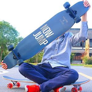 Image 1 - 4 Wheels Maple Complete Longboard Skateboard Street Dancing Long Board Skate Board Adult Youth Double Rocker Board